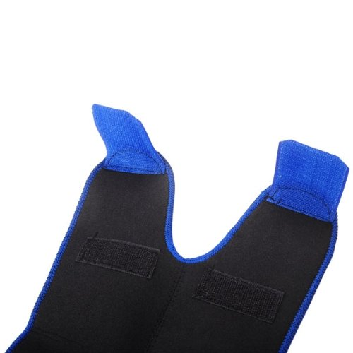 Metro Shop Adjustable Open Hole Stickup Neoprene Brace Knee Protector Guard Cap Pad For Outdoor Sports Hiking - Blue front-33614