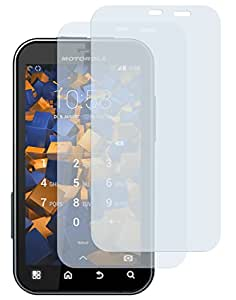 2 x mumbi Displayschutzfolie Motorola Defy+ Displayschutz CrystalClear unsichtbar für Motorola Defy + plus