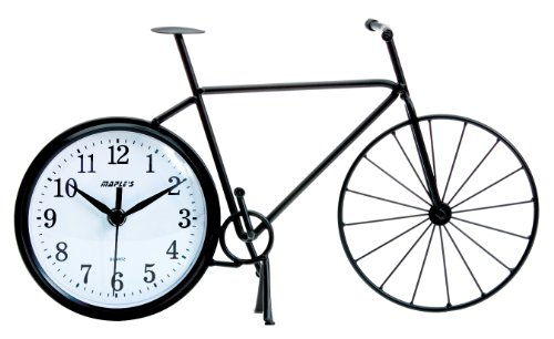 Maple's Bicycle Silhouette Table Clock 0