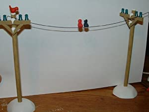 Village Telephone Poles (Set of 6) by Department 56