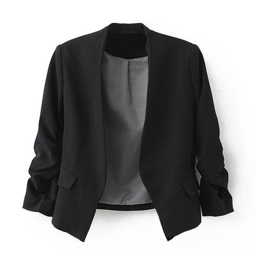 Zacoo женщин's складной рукава Office пиджак…