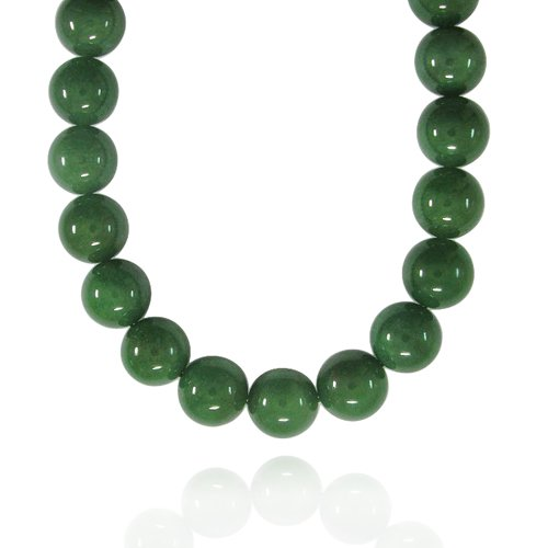 16mm Round Aventurine Bead Necklace, 50