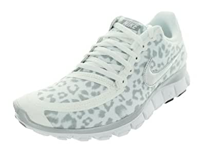 Nike Women's Free 5.0 V4 - White / Metallic Silver-Wolf Grey, 8.5 B US