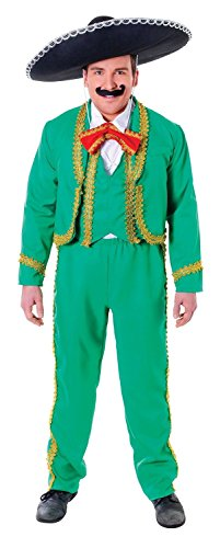 Adult Mens Mexican Man Mariachi Singer Male Fancy Dress Party Costume Outfit