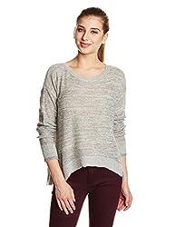 Calvin Klein Jeans Women's Wool Pullover (J203807BEIGE105 L_Marshmallow_Large)