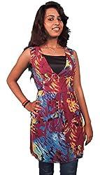 Miraaya Women's Top (M2373WOS_6453, Multi-Coloured, XL)