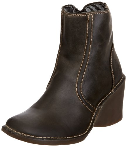 Fly London Women's Elkie Leather Antracite Wedges Boots P801152002 5 UK