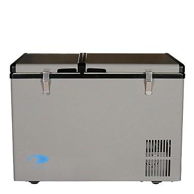 Whynter FM-62DZ Dual Zone Portable Refrigerator/Freezer, 62-Quart, Gray
