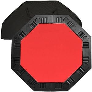 Trademark Poker 48-Inch 8-Player Octagonal Poker Tabletop (Red)