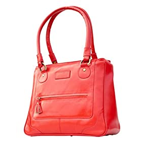 Olive N Figs Red Leather Handbag