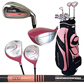 GOLF GIRL Complete LADY Package w/Pink Cart Bag