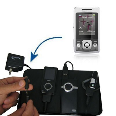 Unique Gomadic 4-Port Charging Station for the Sony Ericsson T303 - Charge four devices with TipExchange Technology