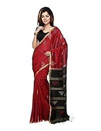 Bengal Handloom Silk Solid Saree - B00WFUXCIK