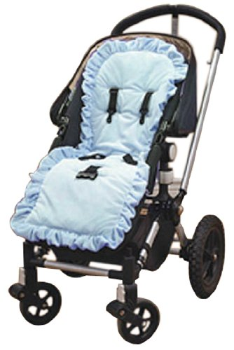 Baby Doll Bedding Heavenly Soft Minky Stroller Covers, Blue front-820980