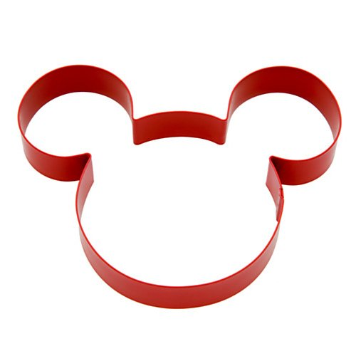 Disney Mickey Mouse Cookie Cutter,Red Metal,Mickey Mouse Head W Ears,5x4,NIP by
