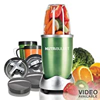 Nutri Bullet NBR-12 12-Piece Hi-Speed Blender/Mixer System, Green from Homeland Housewares