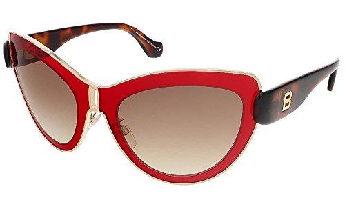 balenciaga-womens-cat-eye-gold-tone-and-red-sunglasses