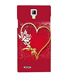 printtech Heart Ribbon Flower Love Back Case Cover for Micromax A99 Canvas Xpress