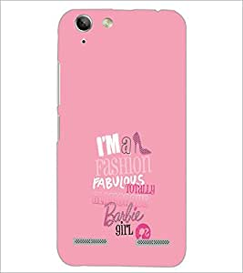 PrintDhaba Barbie Girl Quote D-1006 Back Case Cover for LENOVO LEMON 3 (Multi-Coloured)