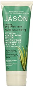 JASON Soothing 84% Aloe Vera Hand & Body Lotion, 8 Ounce Tubes (Pack of 3)