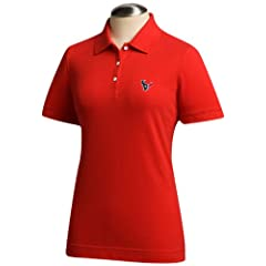 NFL Houston Texans Ladies Ace Polo, Red by Cutter & Buck