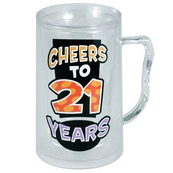 Cheers To 21 Years - Beer Mug