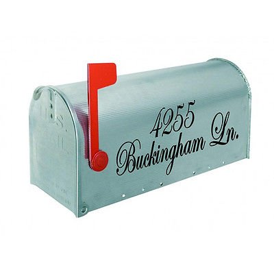 Mailbox Letters Address Vinyl Decals 2 Sided See Color Choices Outdoor Vinyl