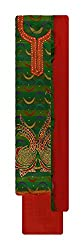Neel Women's Cotton Unstitched Salwar Suit (Green and Red)