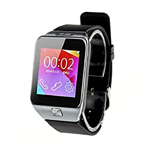 Develop 2015 New V8 Smartwatch Bluetooth Wristwatch Fitness Activity Tracker Wristband Bluetooth 4.0 Sync Call SMS MP3 Pedometer Sleep Monitor Men Watches Remote Camera for Samsung, HTC, Google Android Smart Phone and Apple iPhone 5/5s iPhone 6/iPhone 6 Plus Black Color