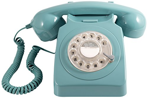 GPO 746 Rotary Telephone - Five Colours. This retro phone is just like the one we all had back in the 70s. Includes a real bell!
