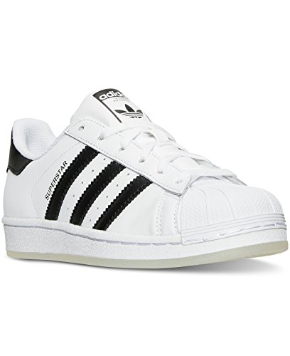 Adidas Boys' Grade School Superstar Casual Shoes B42369 (4 M US Big Kid) White/Black/White (Adidas Shoes For Big Boys compare prices)