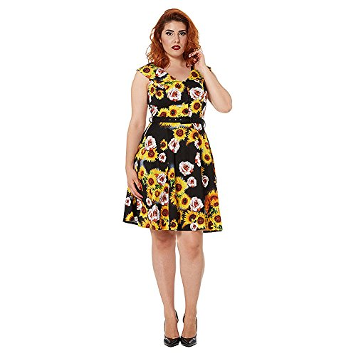 Abito Bianca Sunflowers Voodoo Vixen (Multicolore) - X-Large