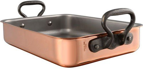 Mauviel 1830 M'heritage Tri-ply Copper Roasting Pan W/ Cast Iron Handles