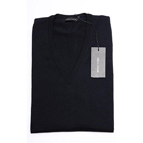 maglione ROBERTO COLLINA blu maglia uomo sweater men 56501 [48]