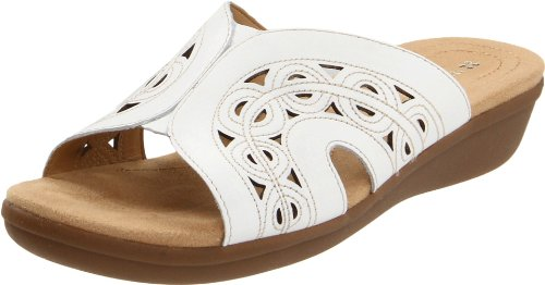 Naturalizer Women's Waver Sandal,White,7 W US