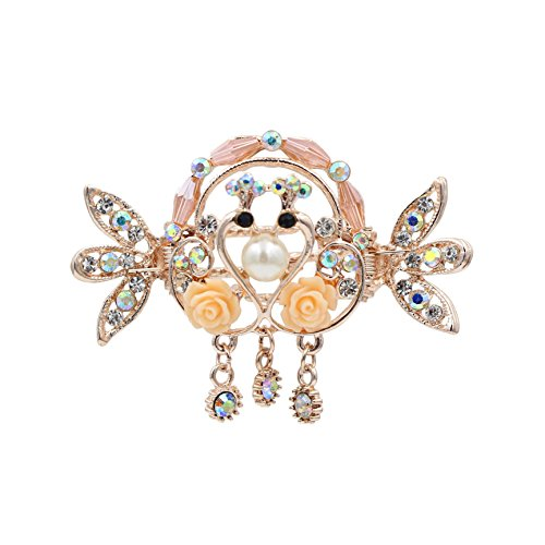 totoroforet-kissing-swans-true-love-swans-in-love-hair-claw-clip-with-pendant-small-size-sakura-pink
