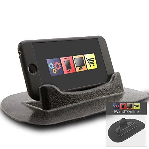 IWIO T-Mobile myTouch 3G Slide Black Sticky (NO GLUE) Mat Anti-Slip In Car Dashboard Desk Table Vertical / Horizontal Holder (3g Slide Mat compare prices)