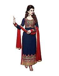 Mantra Fashion Impressive Blue Pure Georgette Straight Salwar Kameez