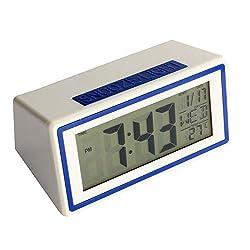 Mikey Store LED Electronic Desktop Digital Alarm Clock Large Display (Blue)