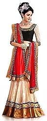 TexStile Womens Fabric Brasso Lehenga Choli (LC_17_Beige_Freesize )