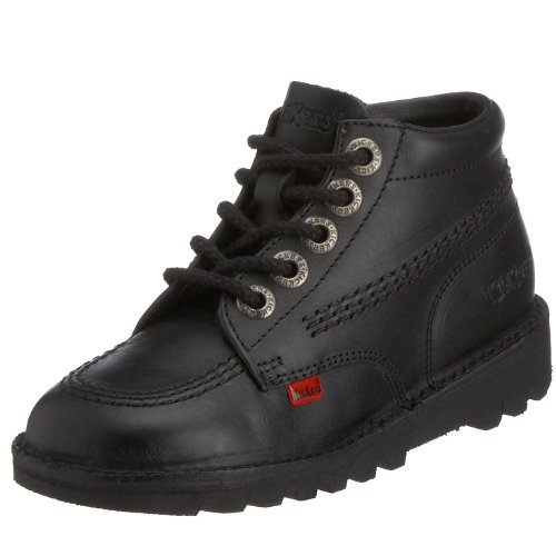 Kickers Kids Kick Hi I Core Classic Boot - Black Leather Kids Boots