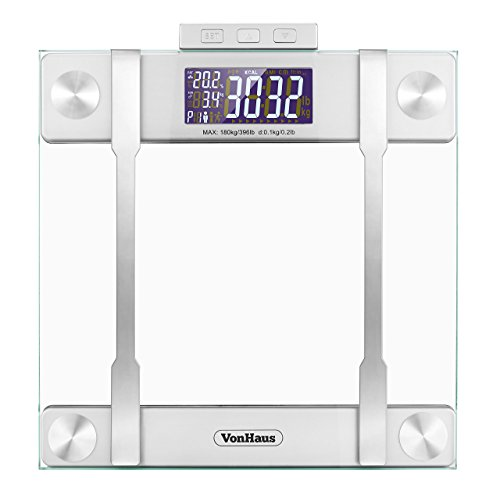 VonHaus Body Fat Scale - BMI Weight Scale with Body