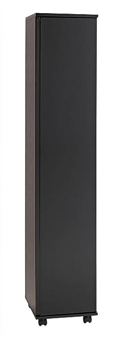 Treat Your Home Straya 1 Door Wardrobe, Wood, Black Gloss