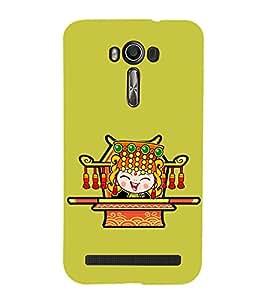 printtech Cartoon Cute Girl queen Back Case Cover for Asus Zenfone 2 Laser ZE500KL / Asus Zenfone 2 Laser ZE500KL (5 Inches)