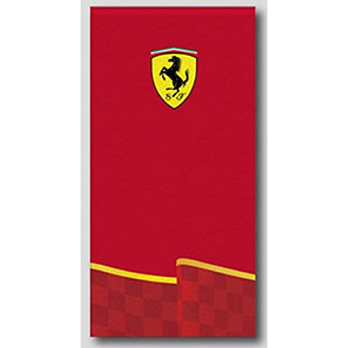 ferrari-logo-red-beach-bad-handtuch