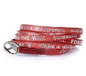 Good Work(s) Red Leather Timeless Wrap-Around Bracelet