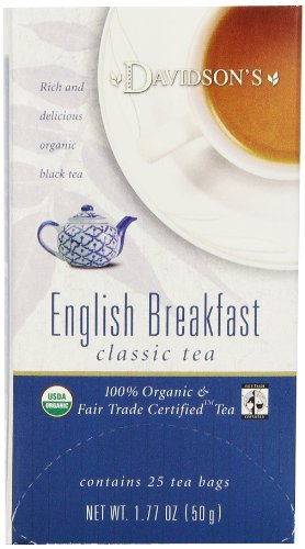 Davidson'S Tea English Breakfast, 25-Count Tea Bags (Pack Of 6)