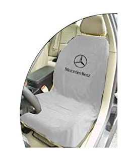 officially licensed mercedes benz seat armourtm towel seat cover gray automotive. Black Bedroom Furniture Sets. Home Design Ideas