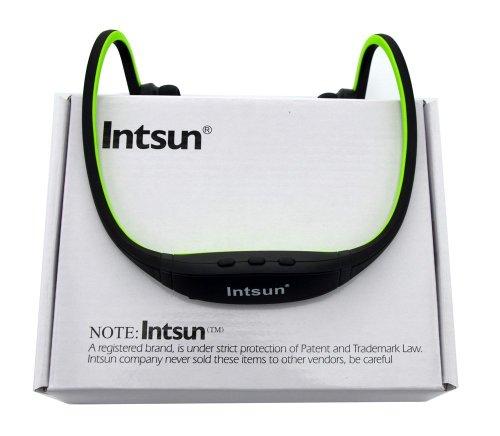 Intsun ® Black Sport Wireless Waterproof Stereo Bluetooth Headphones Handsfree Music Earbud Headset For Smartphone For Iphone 4 4S 5 5G Ipad 1 2 3 4 Ipad Mini(Green)