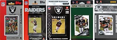 NFL Oakland Raiders 5 Different Licensed Trading Card Team Sets